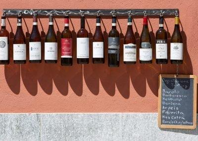 Collectie wijnflessen
