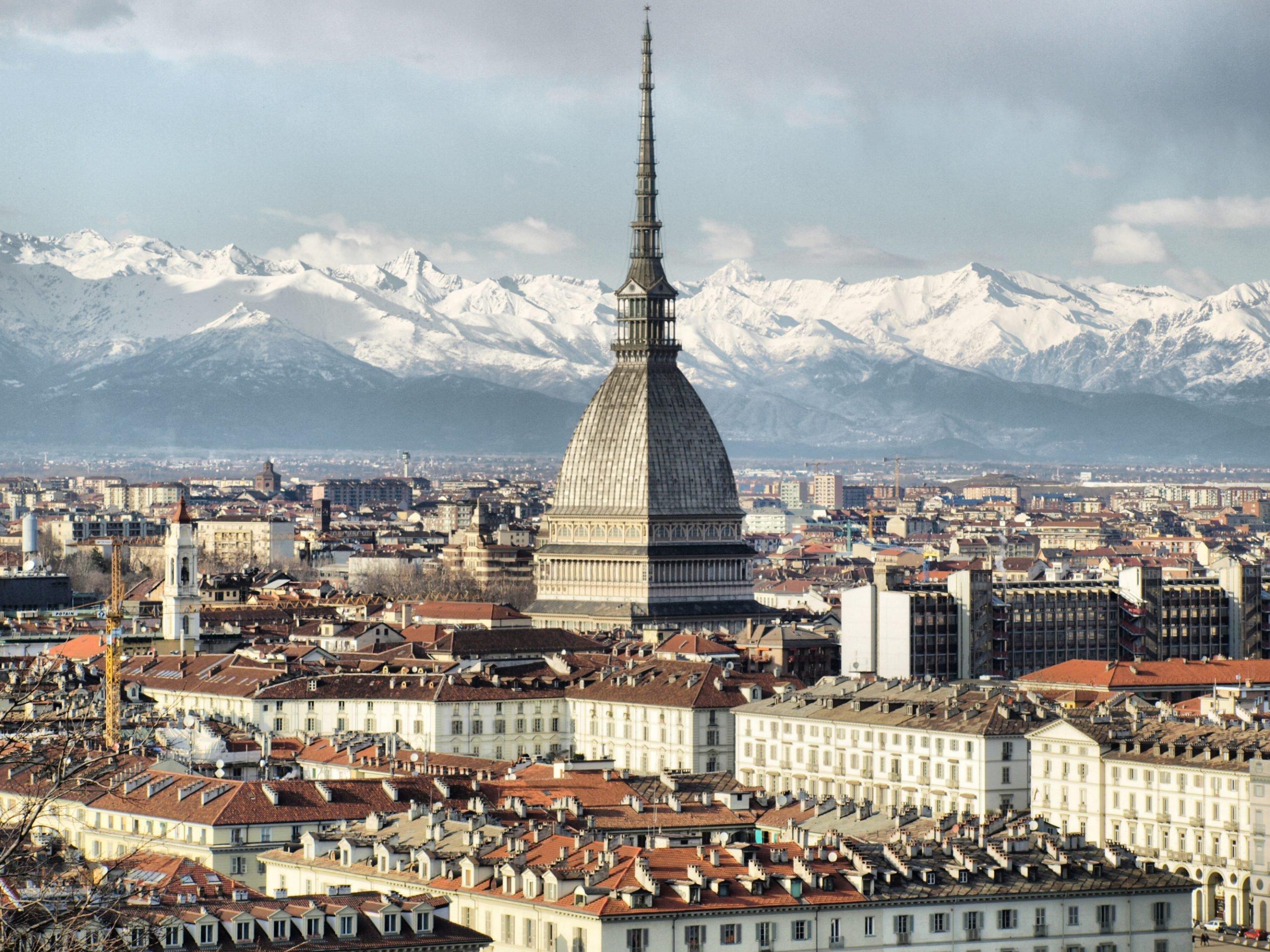 Uitzicht op de Alpen